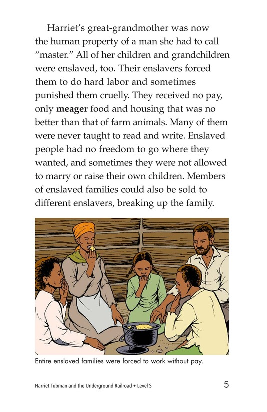 Book Preview For Harriet Tubman and the Underground Railroad Page 5