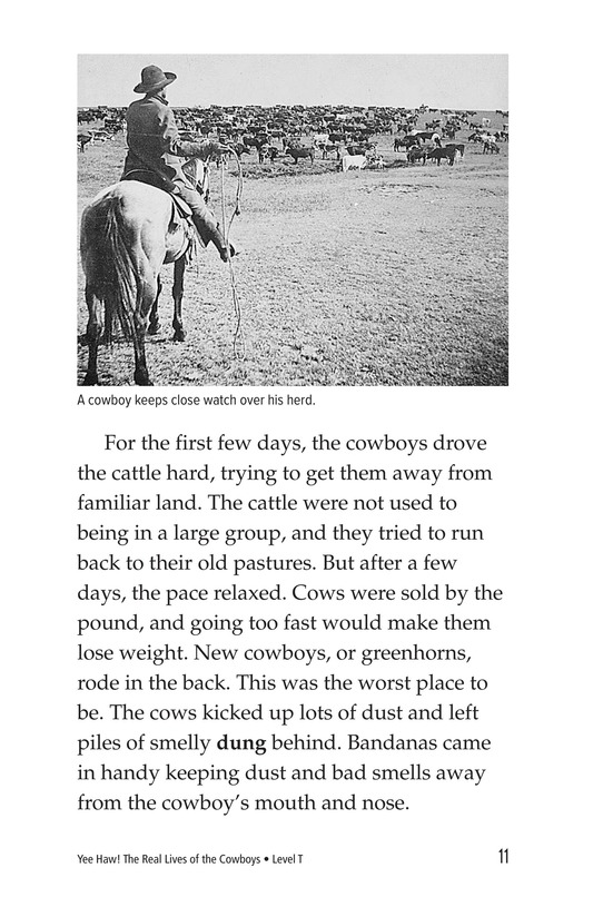 Book Preview For Yee Haw! The Real Lives of the Cowboys Page 11