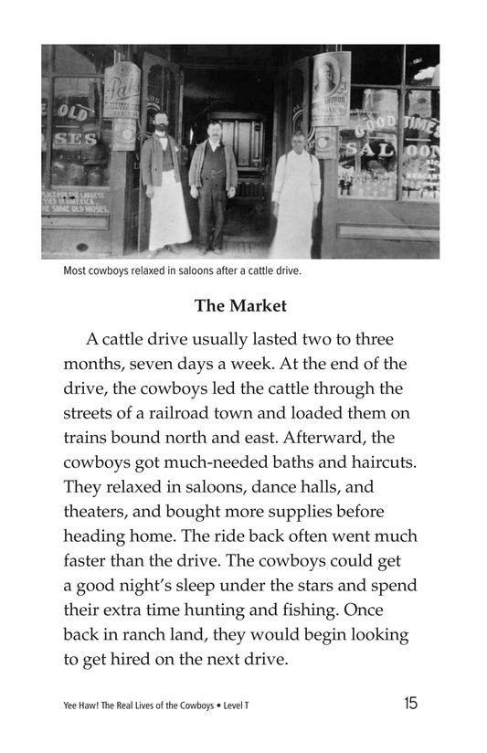Book Preview For Yee Haw! The Real Lives of the Cowboys Page 15