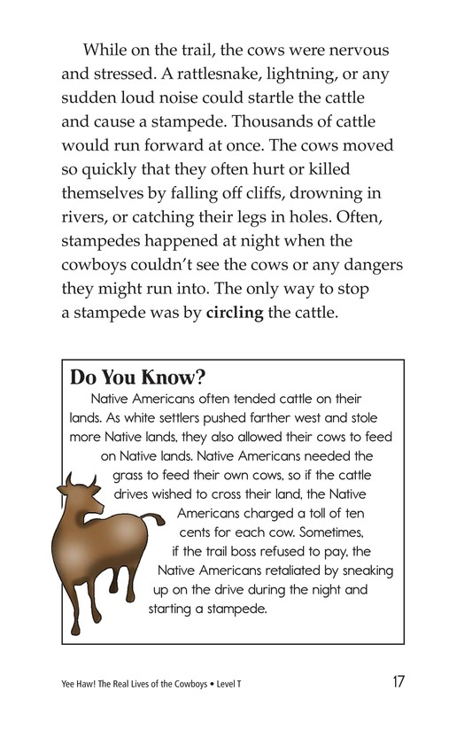 Book Preview For Yee Haw! The Real Lives of the Cowboys Page 17
