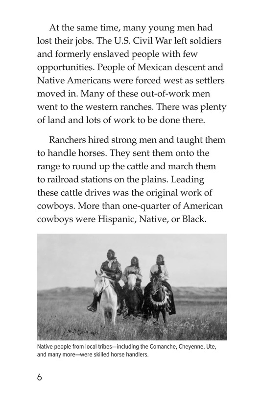 Book Preview For Yee Haw! The Real Lives of the Cowboys Page 6