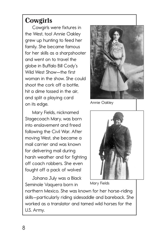 Book Preview For Yee Haw! The Real Lives of the Cowboys Page 8