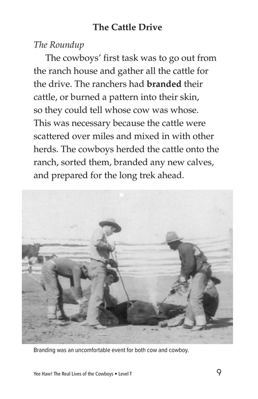 Book Preview For Yee Haw! The Real Lives of the Cowboys Page 9
