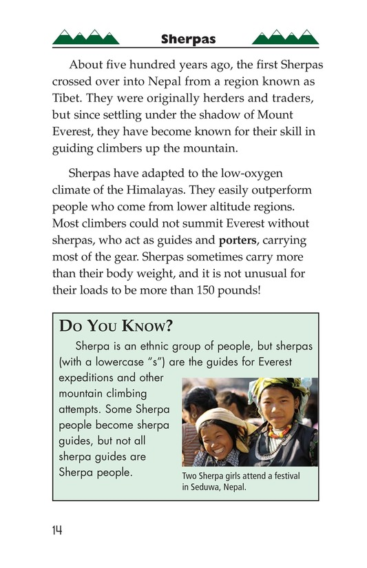 Book Preview For Everest: On Top of the World Page 14