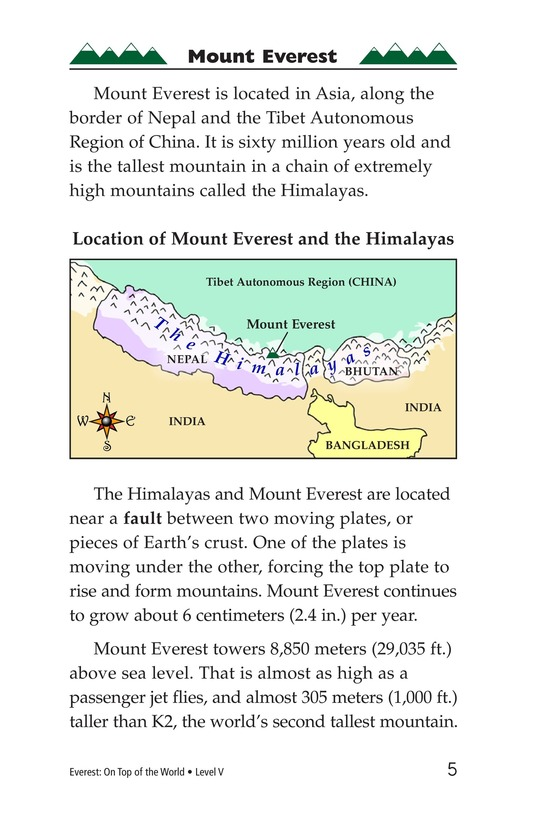 Book Preview For Everest: On Top of the World Page 5