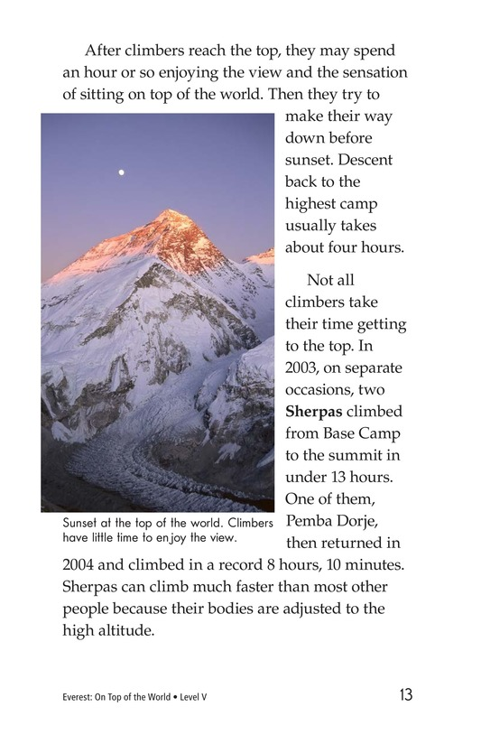 Book Preview For Everest: On Top of the World Page 13