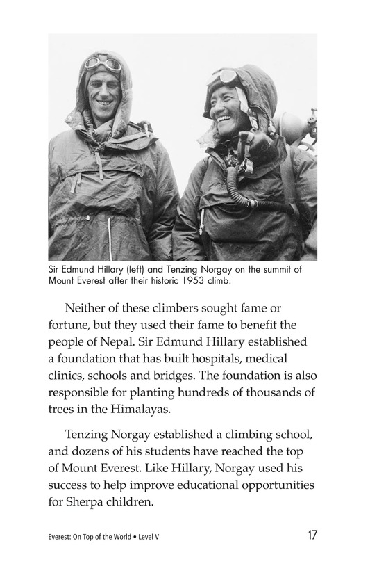 Book Preview For Everest: On Top of the World Page 17