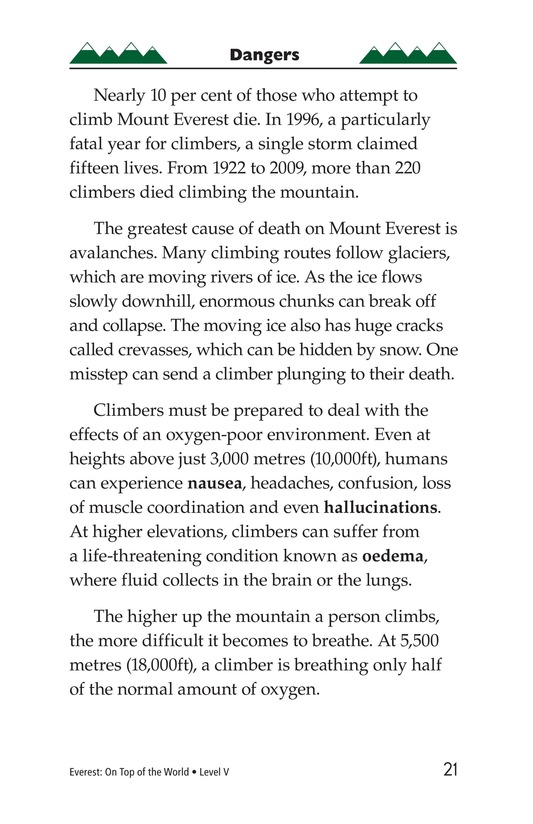Book Preview For Everest: On Top of the World Page 21