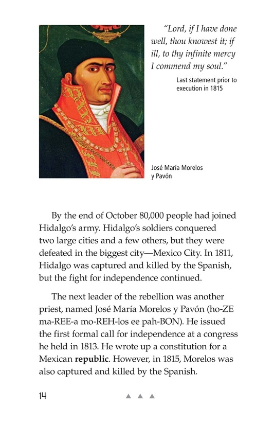 Book Preview For Mexico's Fight for Independence Page 14