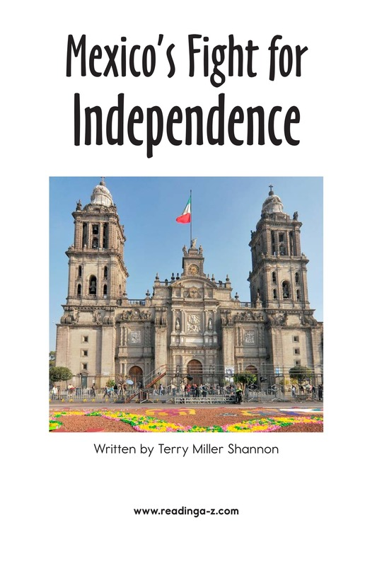 Book Preview For Mexico's Fight for Independence Page 2