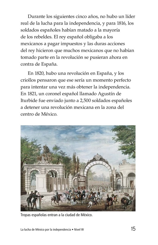 Book Preview For Mexico's Fight for Independence Page 15