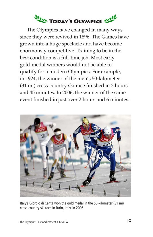 Book Preview For The Olympics: Past and Present Page 19