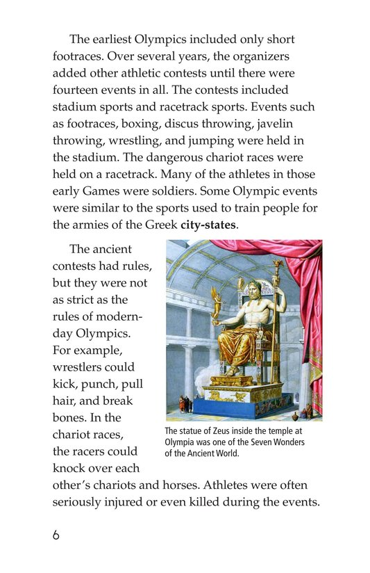 Book Preview For The Olympics: Past and Present Page 6