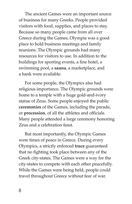Book Preview For The Olympics: Past and Present Page 8