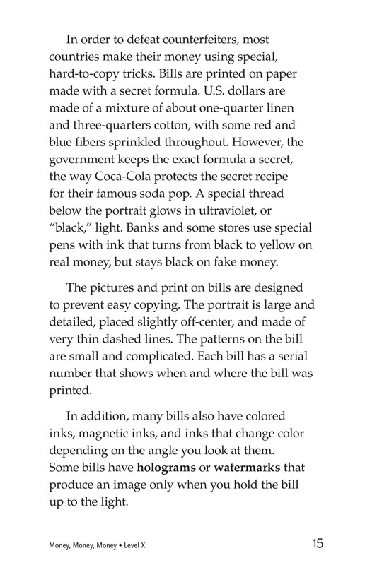 Book Preview For Money, Money, Money Page 15