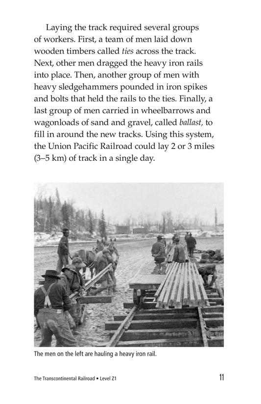 Book Preview For The Transcontinental Railroad Page 11