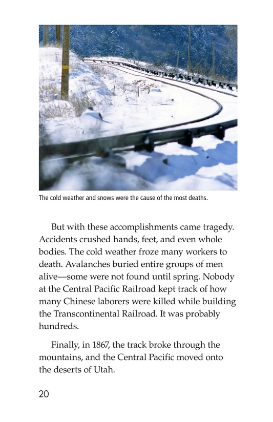 Book Preview For The Transcontinental Railroad Page 20