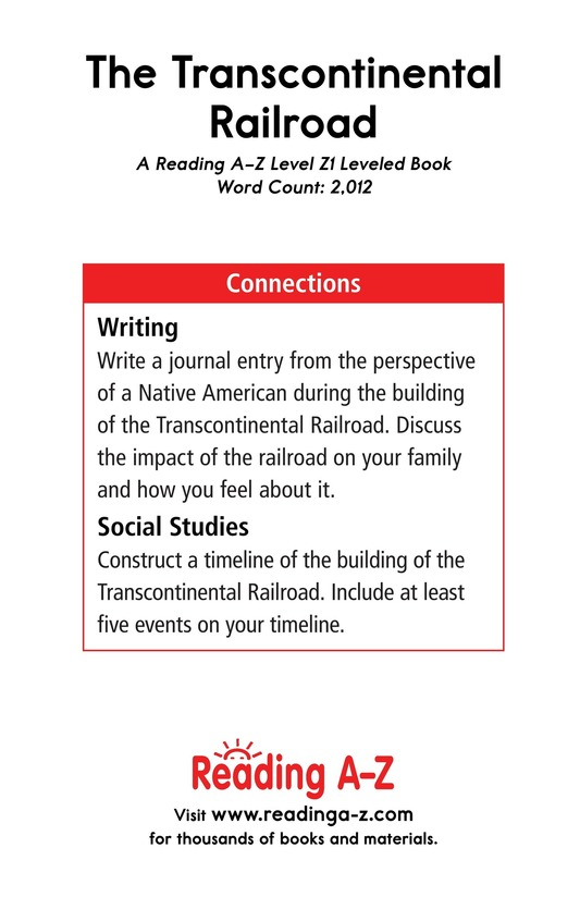 Book Preview For The Transcontinental Railroad Page 25
