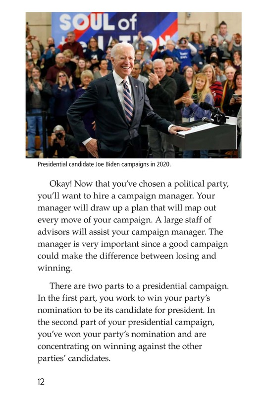 Book Preview For Your Road to the White House Page 12