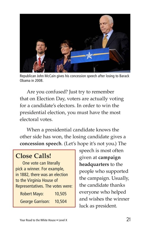 Book Preview For Your Road to the White House Page 21