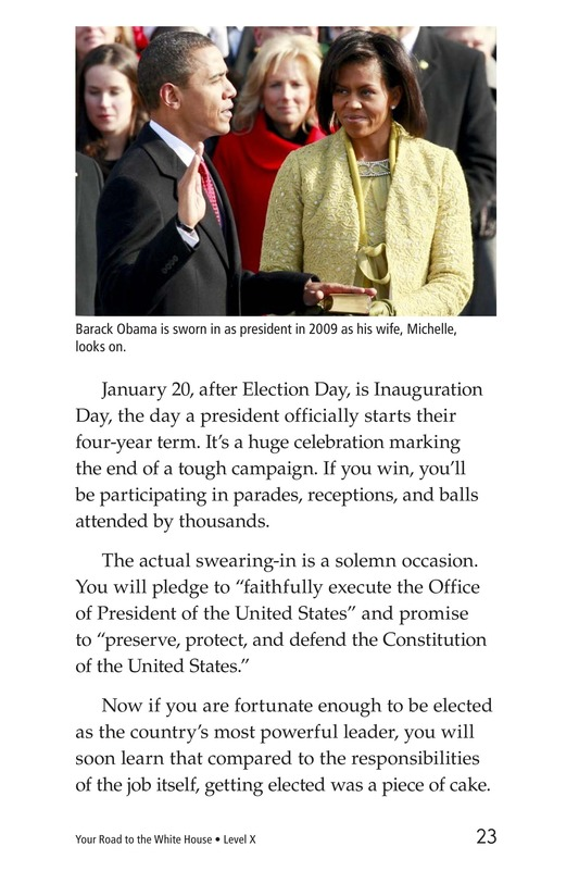 Book Preview For Your Road to the White House Page 23