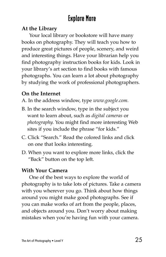 Book Preview For The Art of Photography Page 25