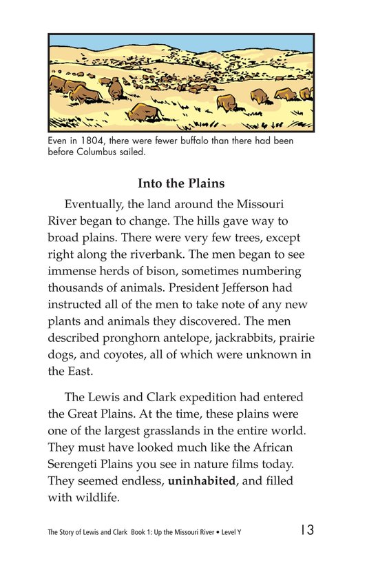 Book Preview For The Story of Lewis and Clark Book 1: Up the Missouri River Page 13