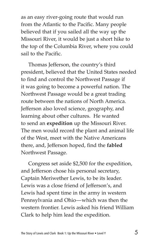 Book Preview For The Story of Lewis and Clark Book 1: Up the Missouri River Page 5