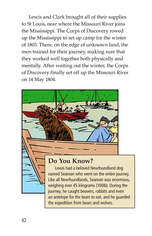 Book Preview For The Story of Lewis and Clark Book 1: Up the Missouri River Page 10