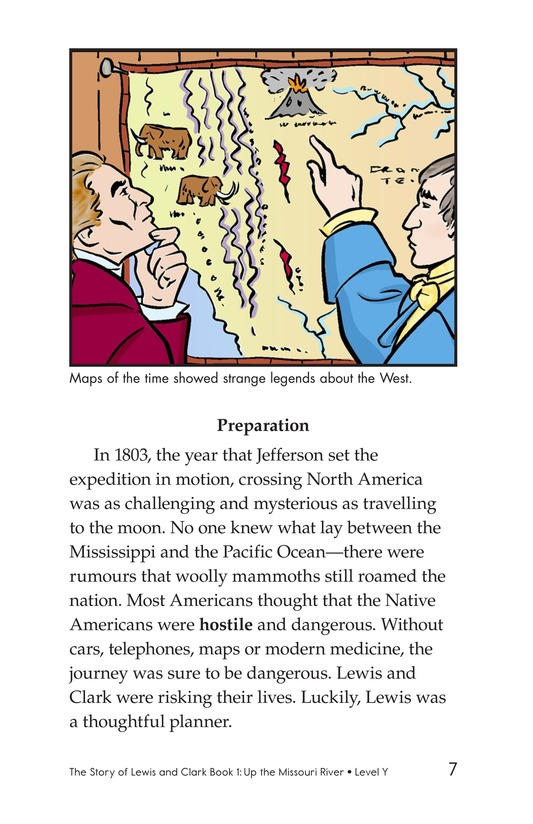 Book Preview For The Story of Lewis and Clark Book 1: Up the Missouri River Page 7