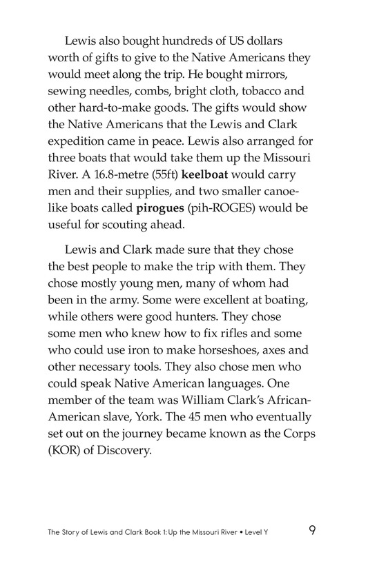 Book Preview For The Story of Lewis and Clark Book 1: Up the Missouri River Page 9