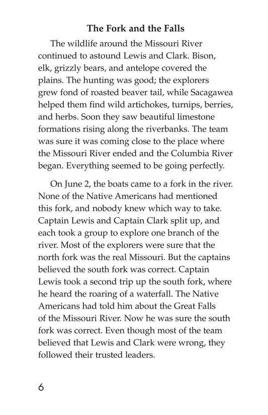 Book Preview For The Story of Lewis and Clark Book 2: To the Pacific Ocean Page 6