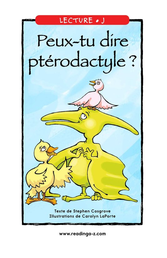 Book Preview For Can You Say Pterodactyl? Page 1