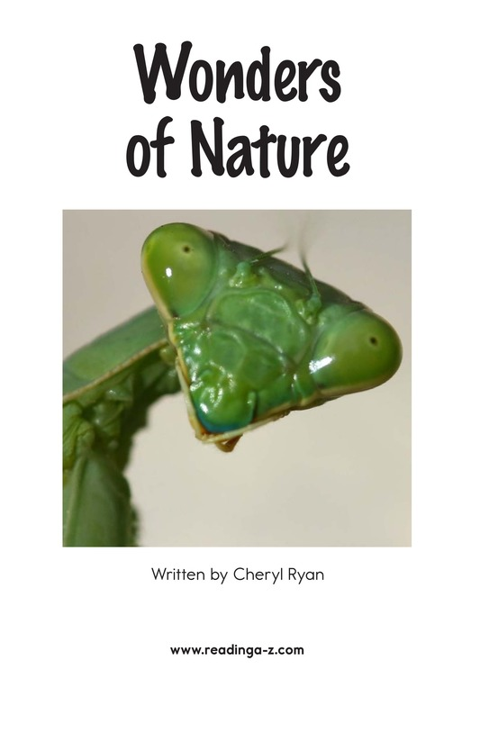 Book Preview For Wonders of Nature Page 2