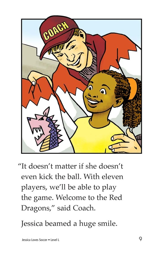 Book Preview For Jessica Loves Soccer Page 9