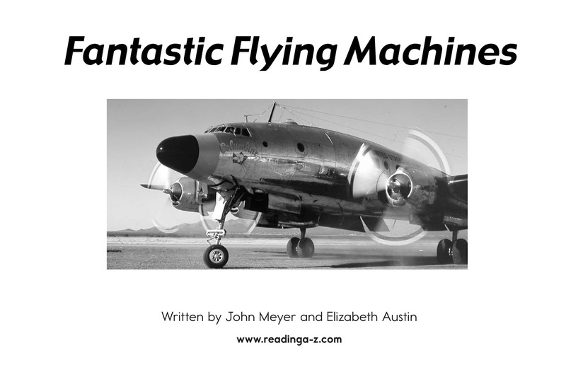 Book Preview For Fantastic Flying Machines Page 2