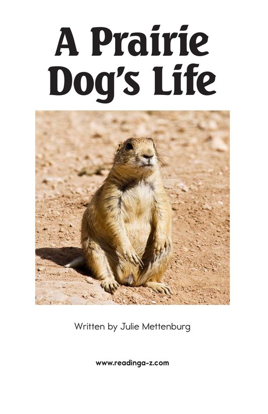 Book Preview For A Prairie Dog's Life Page 2