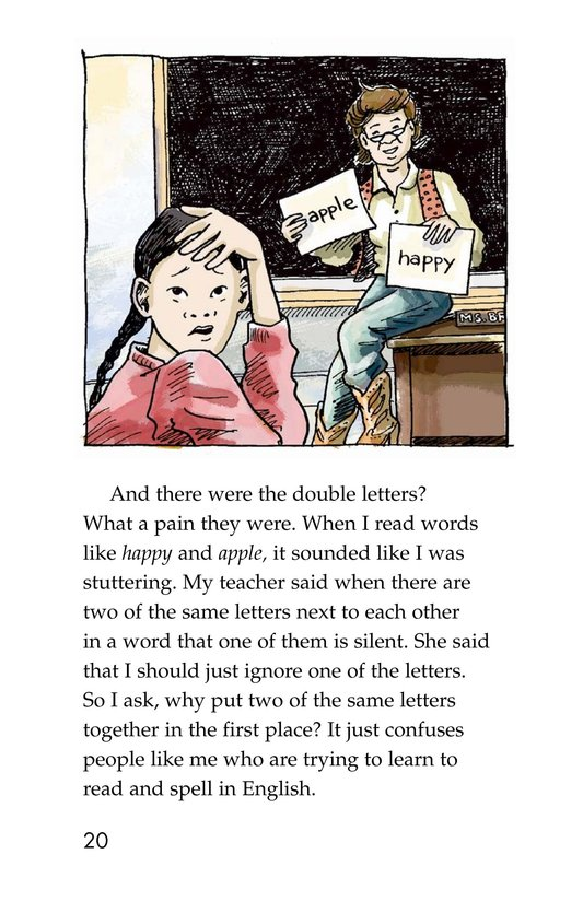 Book Preview For The Trouble with English Page 20