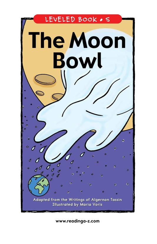 Book Preview For The Moon Bowl Page 1