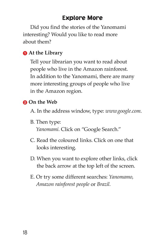 Book Preview For The Yanomami: Deep in the Amazon Page 18