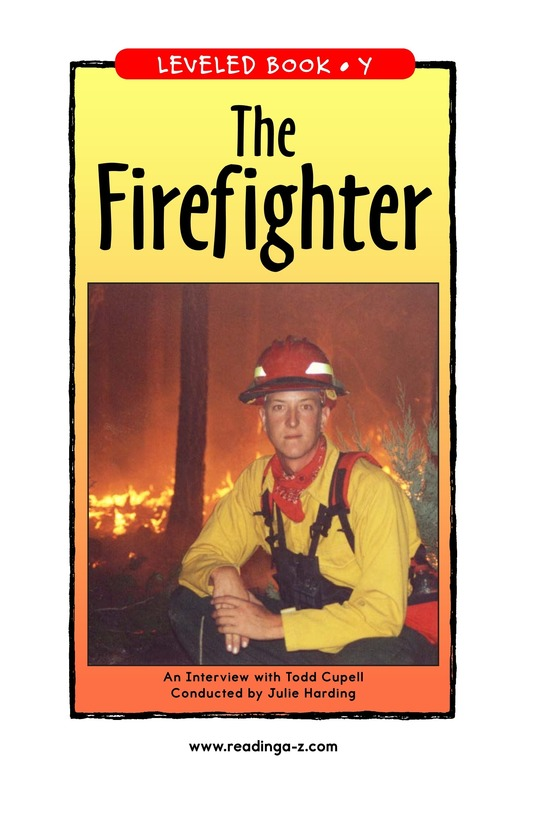 Book Preview For The Firefighter Page 1