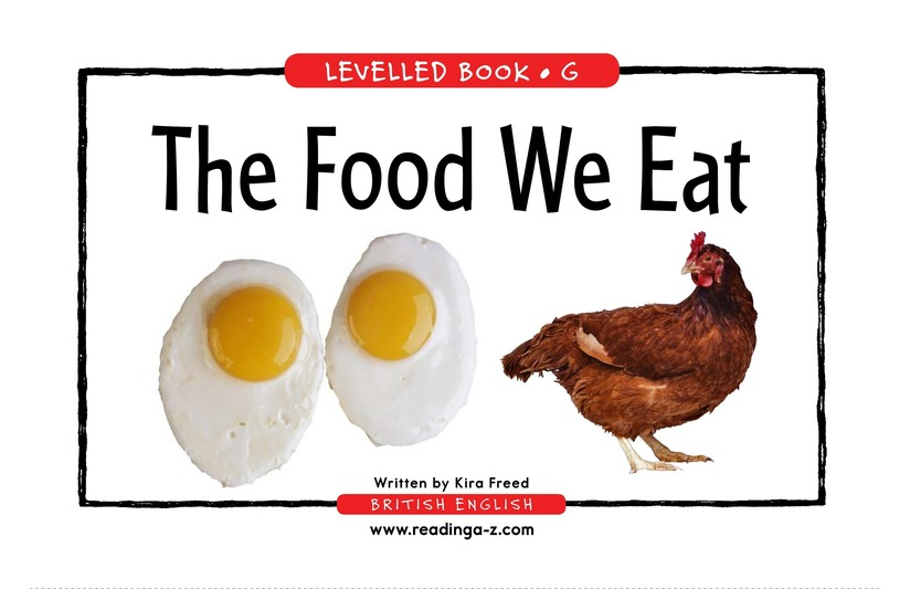 Book Preview For The Food We Eat Page 1