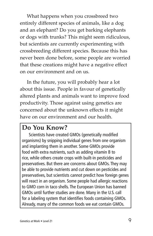 Book Preview For Genetics at Work Page 9