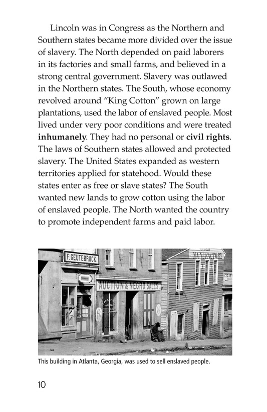 Book Preview For Abraham Lincoln: From Log Cabin to the White House Page 10