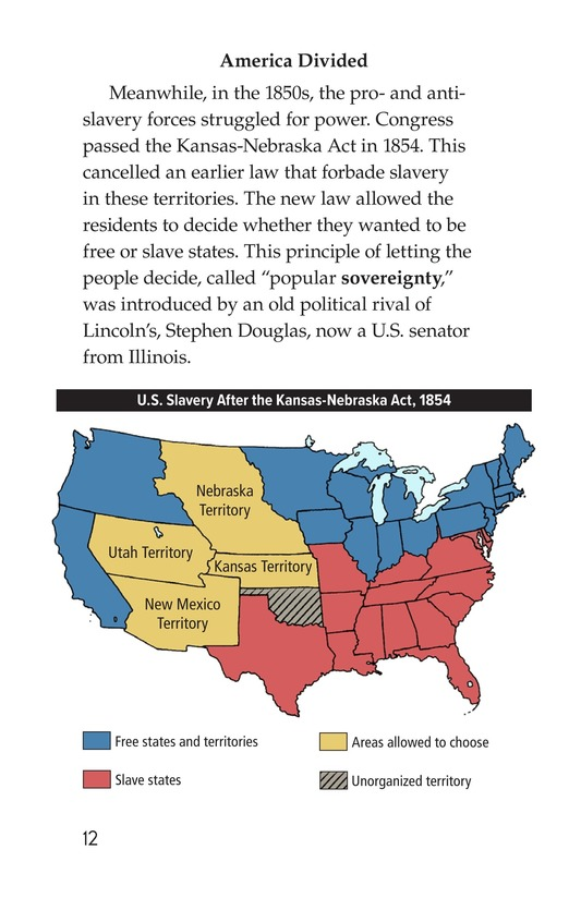 Book Preview For Abraham Lincoln: From Log Cabin to the White House Page 12