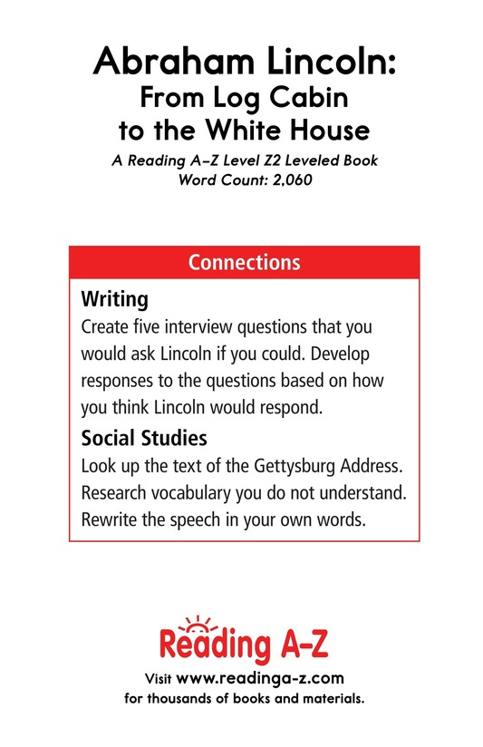Book Preview For Abraham Lincoln: From Log Cabin to the White House Page 25