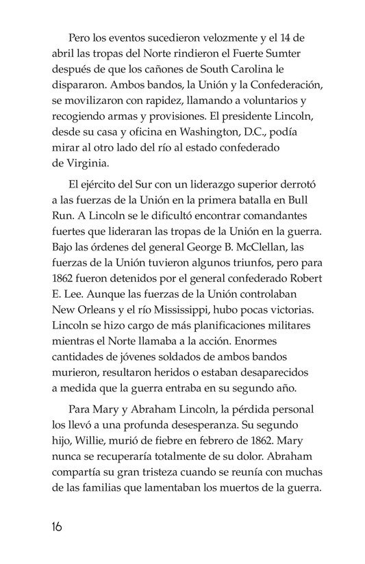 Book Preview For Abraham Lincoln: From Log Cabin to the White House Page 16