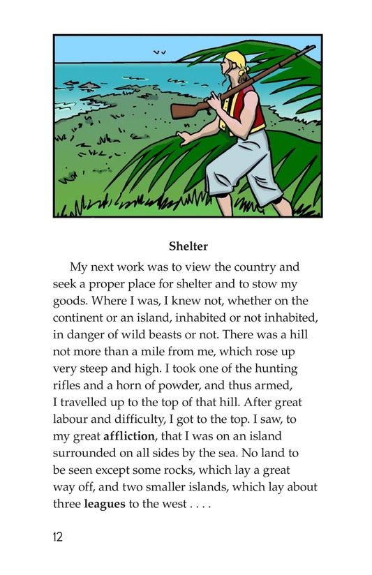 Book Preview For A Selection From Robinson Crusoe Page 12