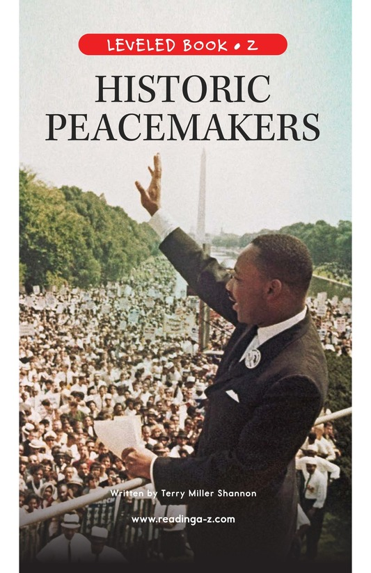 Book Preview For Historic Peacemakers Page 1