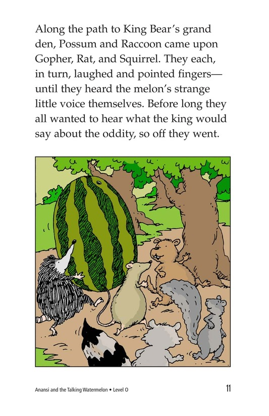 Book Preview For Anansi and the Talking Watermelon Page 11